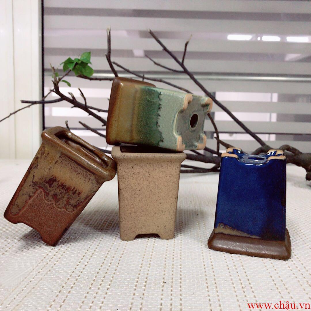Chậu gốm mini bonsai trung quốc